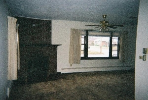 Here is the living room in which every important photo was taken.