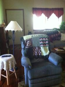 Afghan in Jen's living room.