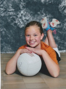 Addie w_soccer ball