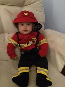 Cole is ready to fight some fires!