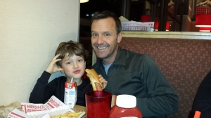 Joseph and Allen mug for the camera.