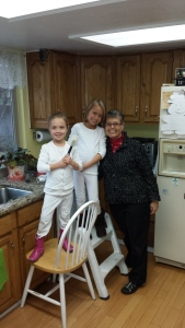 Magnolia and Dagny helped me make Grandma Wilma's meringue shells.