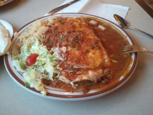 The Frontier burrito from the Frontier Restaurant in Albuquerque, NM.
