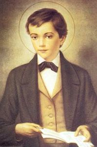 St. Dominic Savio. Look at thos eyes. Sainthood destiny. Of course the halo helped.
