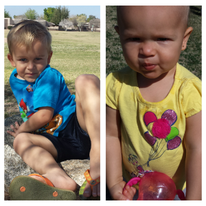 Austin and Lilly joined me for a picnic and enjoyed the beautiful weather.