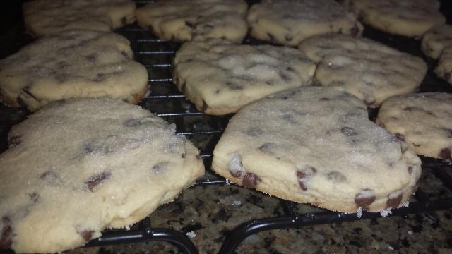 chocolate chip valentine cookies