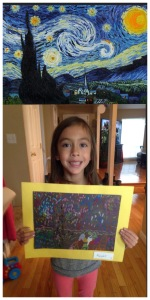 Van Gogh's Starry night above; Kaiya's Starry night below.