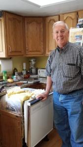 Bill removing dishwasher