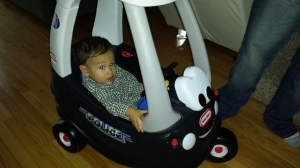 Cole in polic car