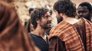 Peter and Paul as portrayed in NBC's AD: The Bible Continues