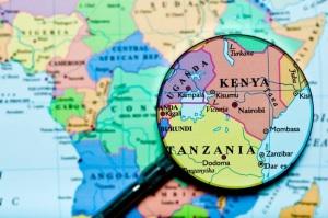 tanzania kenya map
