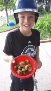 Alastair and shrimp