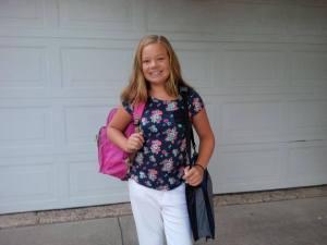 addie first day of school 2015