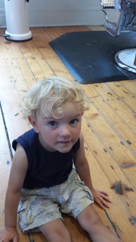 Micah before haircut
