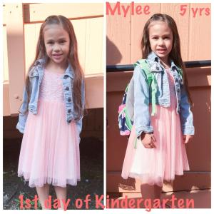 Mylee starts kindergarten.