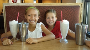 Dagny and her friend Brynn loved them a milkshake as we celebrated D's birthday.