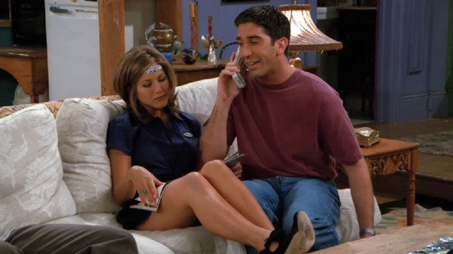 At what times in friends are rachel and ross dating