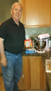 bill making cake