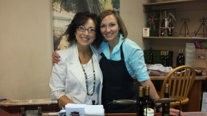 Owner Dena Armstrong and olive oil and the store tour guide know their olive oils and balsamic vinegars!