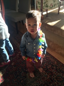 Cole with lei 4.16