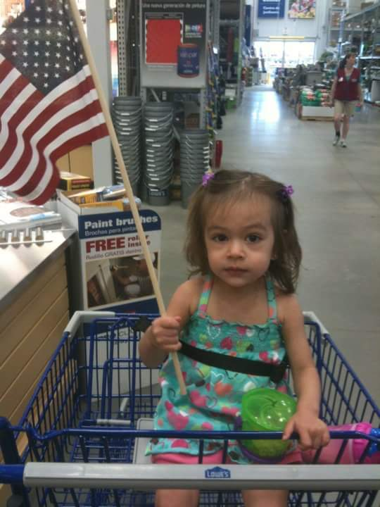 Kaiya was may two or three when she knew she was proud to be an American!