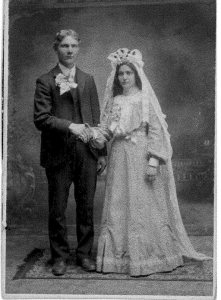 Charles and Anna Micek on their wedding day.